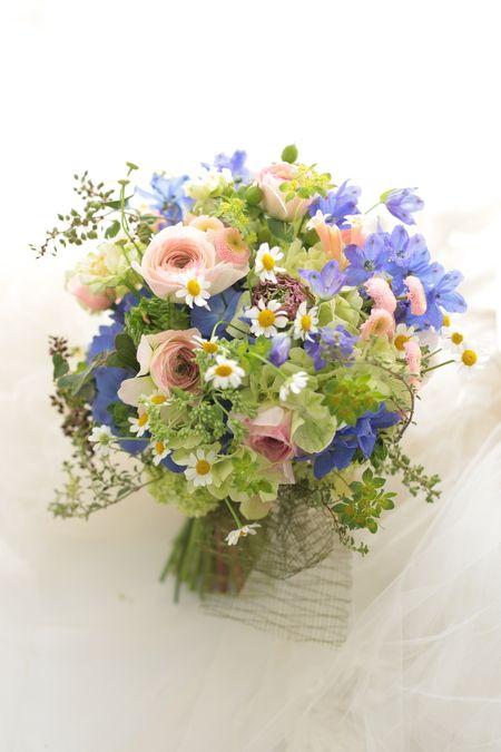 ゼクシィ撮影のブーケと、小さな確認の画像:一会 ウエディングの花
