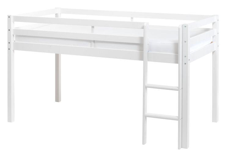 Halbhochbett TIM, Inkl. Leiter und Rollrost,ohne Matratze. Aus Stabilitätsgründen wird empfohlen,das Bett zusätzlich an der Wand zu befestigen.