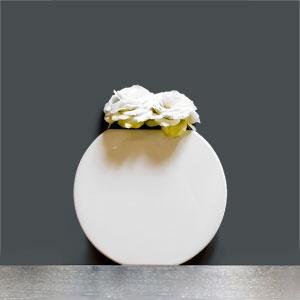 Vaso Vanity rotondo white