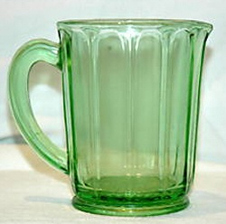 Pattern:   Ribbon  - Manufacturer:   Hazel Atlas Glass Company  Dates Manufactured:   Early 1930s