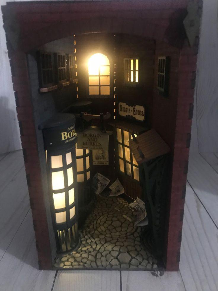 Knockturn alley inspired book nook book nook shelf decor