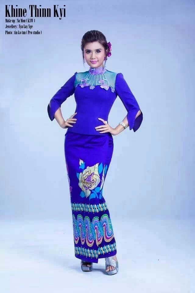 burmese dress - Google Search