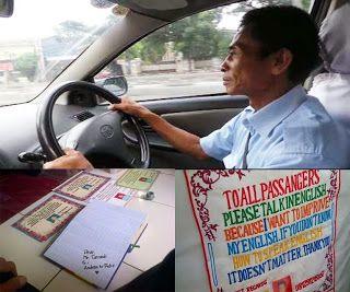 Inspirasi Tarnedi, Sopir Taksi Berbahasa Inggris