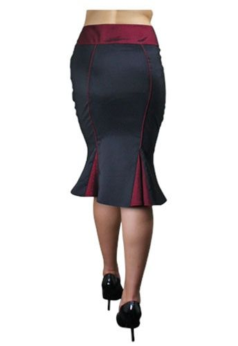 Fishtail Pencil Skirts Pencil Skirts Rockabilly Pencil Skirt