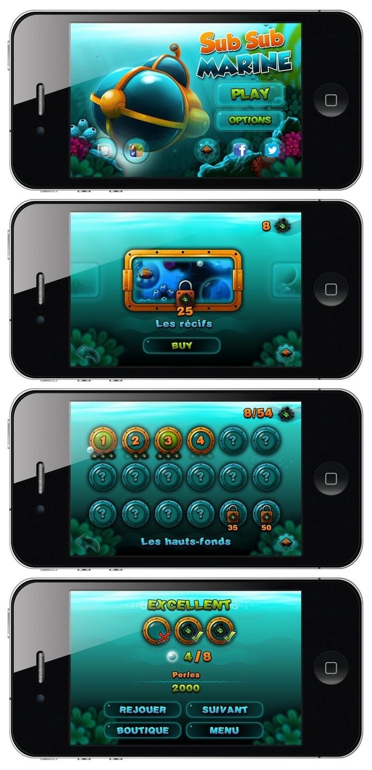 GUI Mobile game - Stéphane Arson