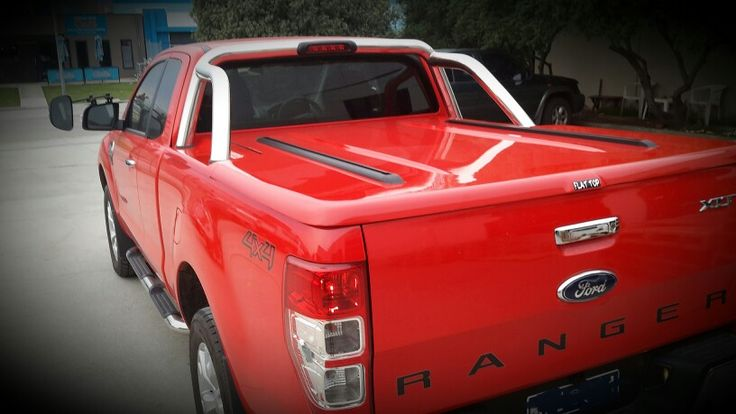 Ford ranger supercab with flat top auto lid