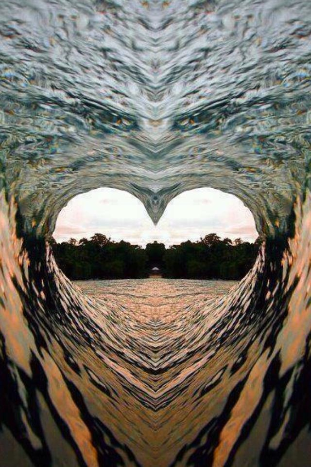 Heart Wave - <3  -  Beautiful - but I think this might have been photo shopped, only because I can see the face of an eagle just above the heart....beautiful heart nevertheless.