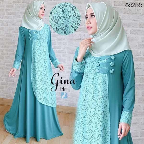 gina mint Rp120rb, maxi tgn pjg, variasi kancing depan, spandex korea kombi brukat, ld 100 smp 110 pjg 141 lb 260, no pashmina, berat 550gram  contact us  FB fanpage: Toko Alyla  line@: @alylagamis  WA: 0812-8045-6905    toko online baju muslim  gamis murah  hijab murah  supplier hijab  konveksi gamis  agen jilbab