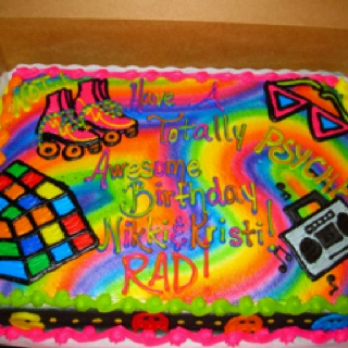 My 80s Birthday Cake Things I