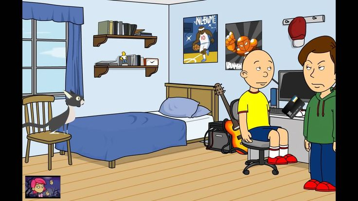 Caillou Opens Up Goanimate Account While Still Grounded