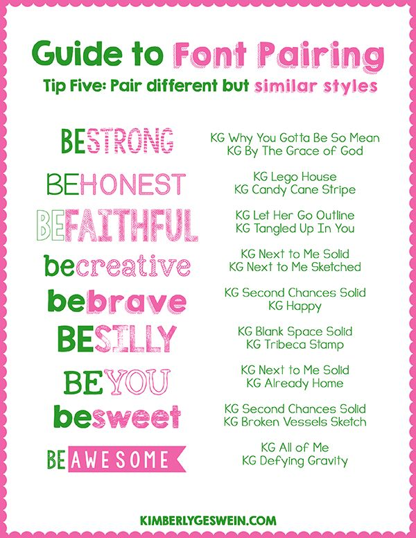 Font Pairing Guide #5 ~~ Pair different but similar styles ~~ {15 Free fonts w/ easy download links}