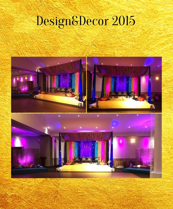 Mehndi event april 17th 2015 with lots of bright colors for Bright lights design center