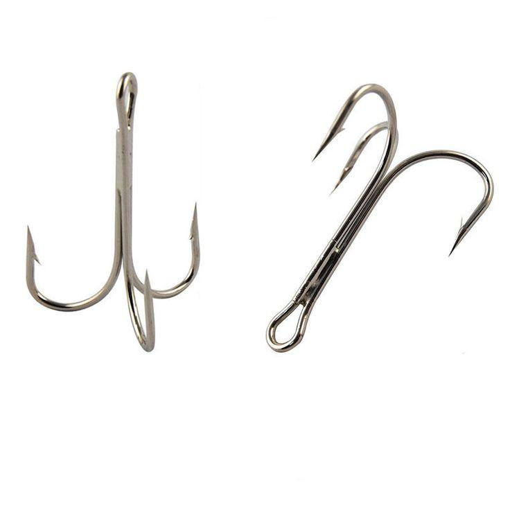 20pcs 3551 High Carbon Steel Treble Fishing Hooks Saltwater Sharp Big O'Shaughnessy Triple Artificial Bait Fishhooks Size 8/0