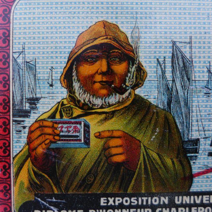 Tabakdose Frankreich 1900 Elmarino Fisherman Victorian navy cigarete tobacco tin   eBay