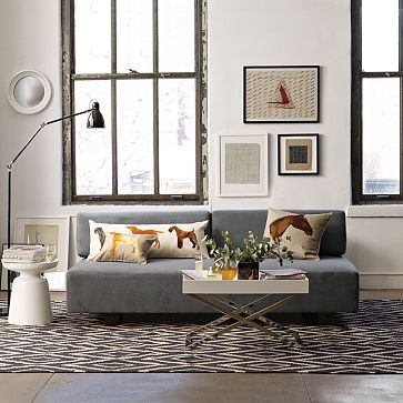 Tillary sofa grey white Welp I got a Tillary sofa in this color so : west elm tillary sectional - Sectionals, Sofas & Couches