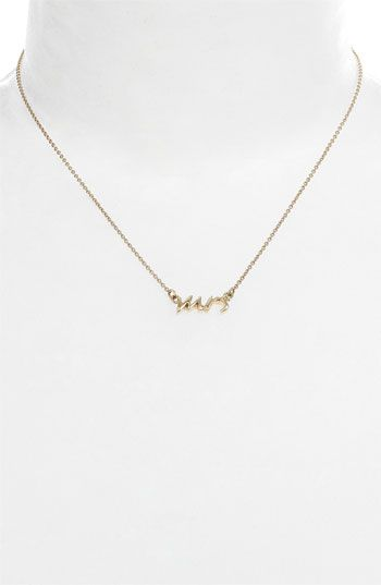 I really want one of these! Would be fun on a honey moon :-) #nordstromweddings   kate spade new york 'say yes - mrs' necklace available at #Nordstrom