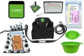 TSA fast pass metal free harness and leash In Cabin Pet Airline Kit Details - Green