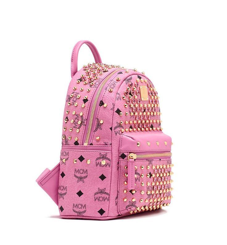 MCM DIAMOND STARK BACKPACK PINK - MCM-2 #mcm #backpack #pink #bag