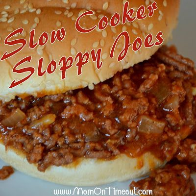 Slow Cooker Sloppy Joes {Recipe} - Mom On Timeout