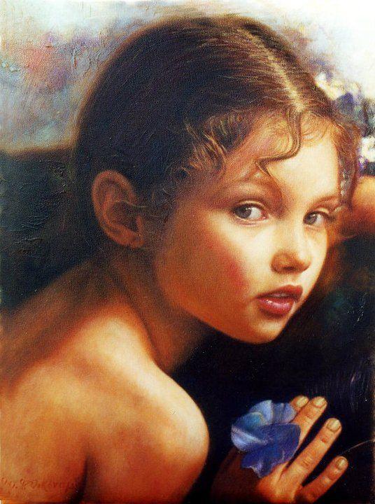 Oil Painting by Greek artist Odysseas Oikonomou (b.1967)