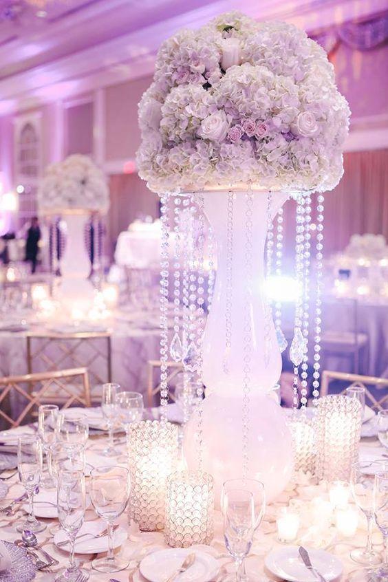 Winter White Ballroom Wedding Reception