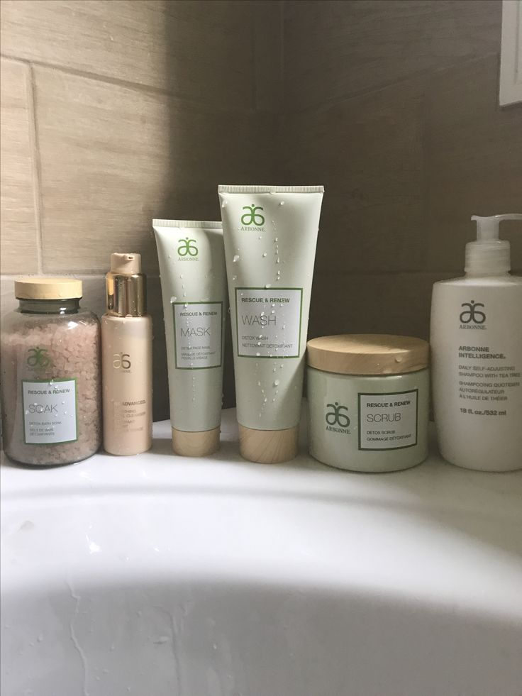 New rescue and renew line from arbonne!