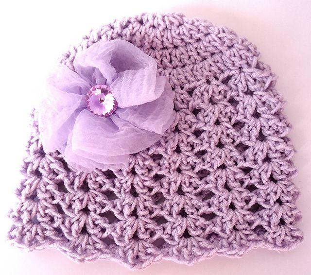 Ravelry: Crochet Spring Girl Hat With Flower pattern by Beauty Crochet Pattern