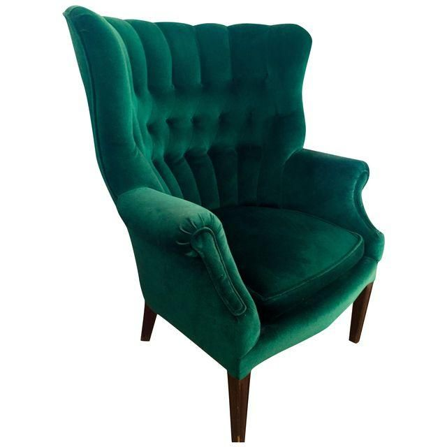 Image of Vintage Emerald Green Armchair