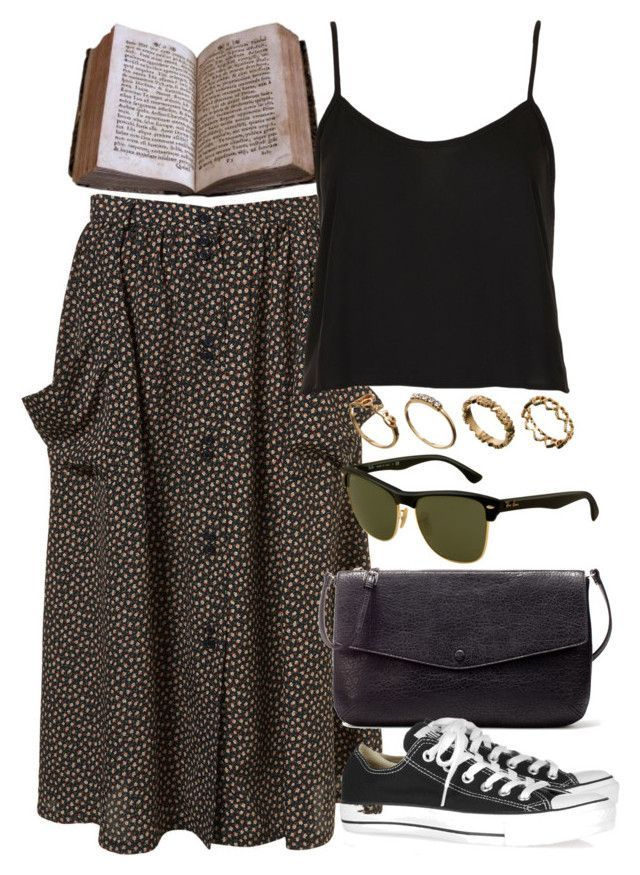 """Untitled #5521"" by rachellouisewilliamson on Polyvore featuring Topshop, Zara, Converse, Ray-Ban and ASOS"