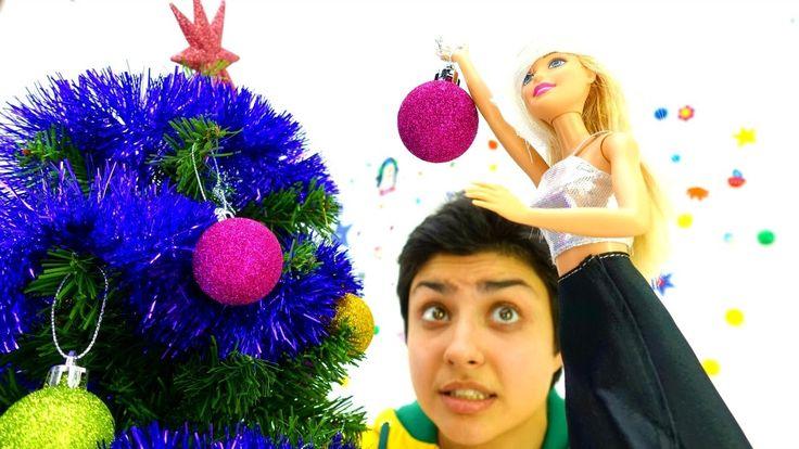 Новый Год: #БАРБИ и #Елка - наряжаем вместе! Игры в куклы