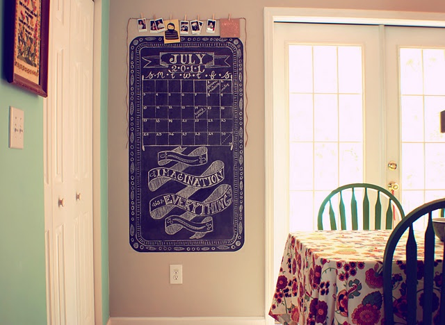Kitchen Chalkboard Wall I Seriously Love This Idea If Only I Could Draw Like