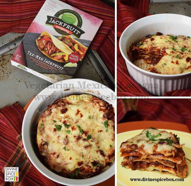 Mexican jackfruit lasagna from Divine Spice Box