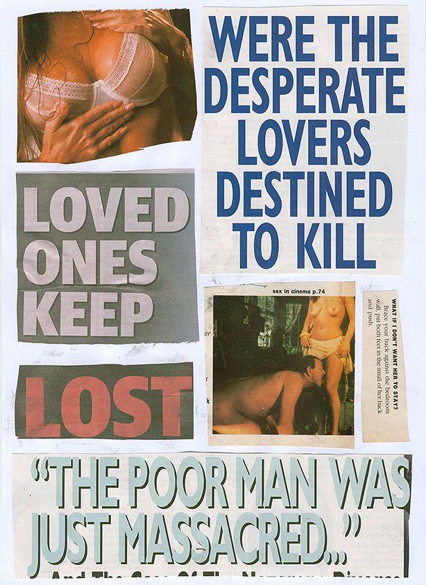"""Destined To Kill, 2015"" Jordan Devlin. Collage On A4 Paper."