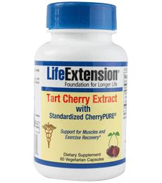 Tart Cherry Extract: Support for Muscles and Exercise Recovery. ~If you can't find tart cherry juice where you live. It also supports sleep as it is rich in melatonin.~Marline
