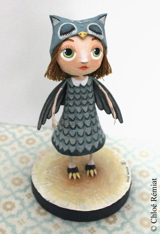 PETITE FILLE HIBOU * Lille Owl Girl