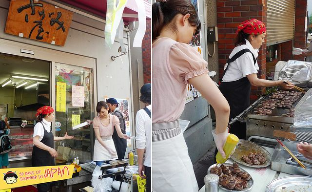 Shitamachi Tanabata Matsuri (2013) - beef roll at local butcher shop by www.chubbychinesegirleats.com, via Flickr