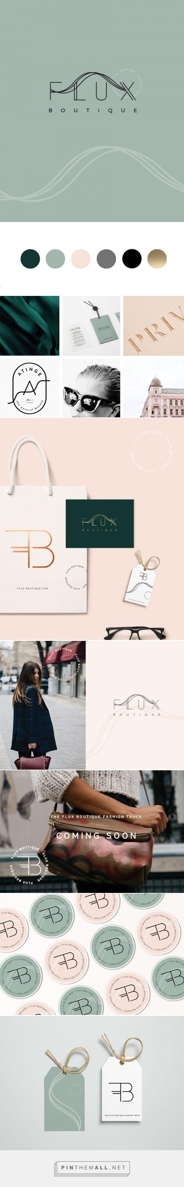 Branding design - Flux Boutique | Ink & Honey Design Co. - created via https://pinthemall.net