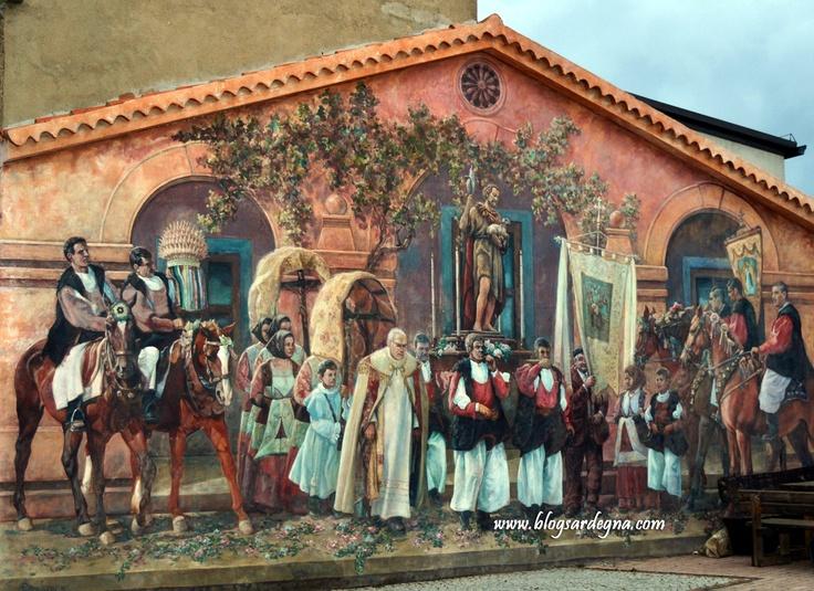 """#Murales a #Fonni #Sardegna #Sardinia  """"Processione San Giovanni Battista"""""""