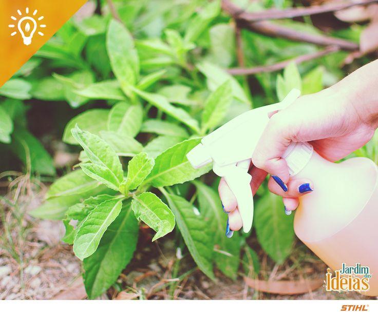 O vinagre é um herbicida natural poderoso. Para fazer um spray e proteger suas plantas das ervas daninhas, você vai precisar de: 5l de vinagre, 2l de água, 100ml de detergente de louça biológico e 1 colher de sobremesa de sal grosso.   Quanto mais ácido o vinagre, mais eficaz a solução. Aplique a mistura logo nas primeiras semanas após a semeadura.