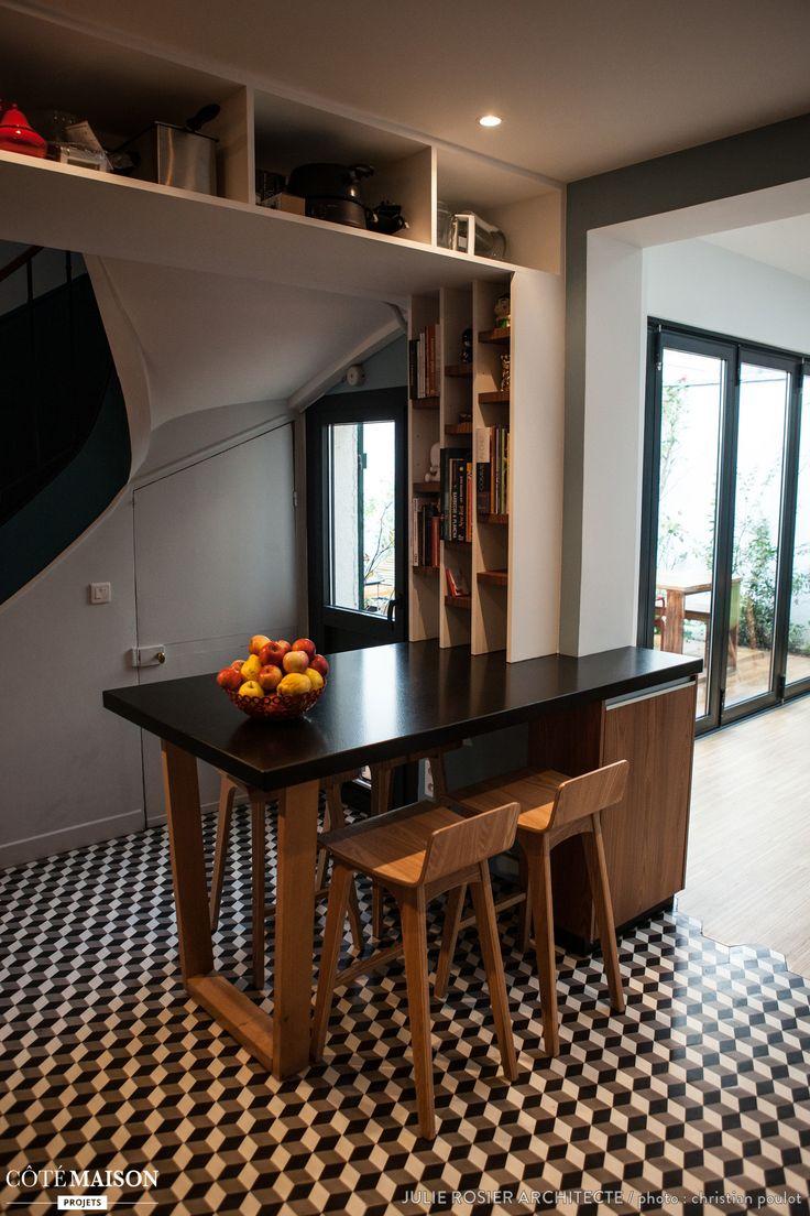 Extension dune maison de plain pied sur jardin aménagement intérieur cuisine aménagement terrasse maitrise