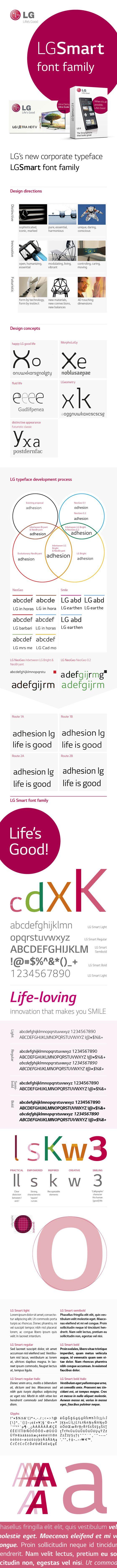 Typografie lettertype LG