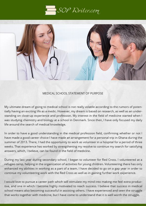 affordable service in writing medical school statement of