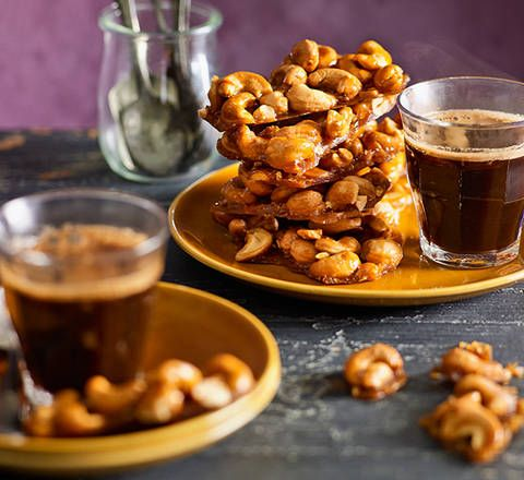 Caramel cashew clusters: Go nuts with these baked bites. A little bit fancy, they're perfect for an after-dinner nibble with coffee.