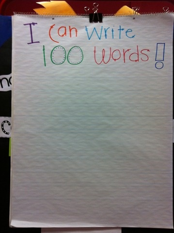 100 words for 100th day of school