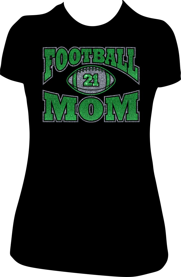17 best images about custom football mom glitter tees for Boys soccer t shirts