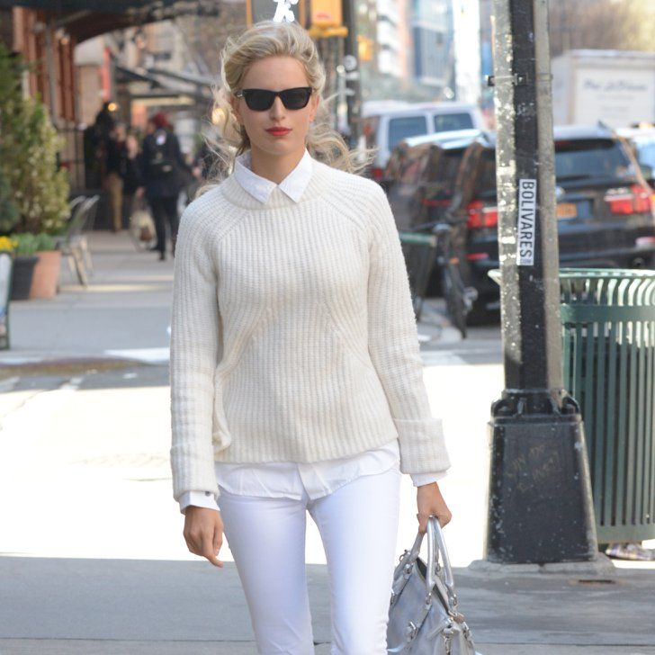 Pin for Later: Did Karolina Kurkova Pull Off This All-White Outfit?