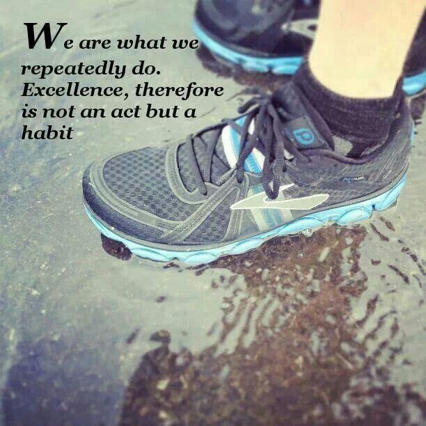 wet running shoes