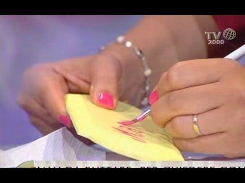 Fiori di carta fai da te - il cestino porta confetti - YouTube
