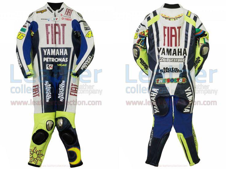 Valentino Rossi Yamaha Fiat MotoGP 2010 Race Suit  https://www.leathercollection.com/en-we/valentino-rossi-motogp-2010-race-suit.html  #Valentino_Rossi_Race_Suit, #Valentino_Rossi_Suit, #Valentino_Rossi_Yamaha_Fiat_MotoGP_2010_Race_Suit