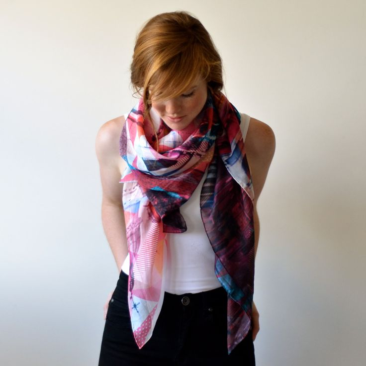Digitally Printed Silk Scarf  Venice by SqueakDesign on Etsy, $110.00